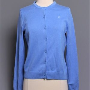 Lilly Pulitzer Blue Cotton Cardigan Sweater Small